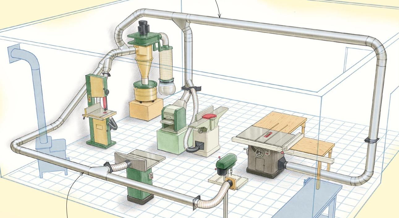 7 điều quan trọng khi đi đường ống hút bụi trong xưởng