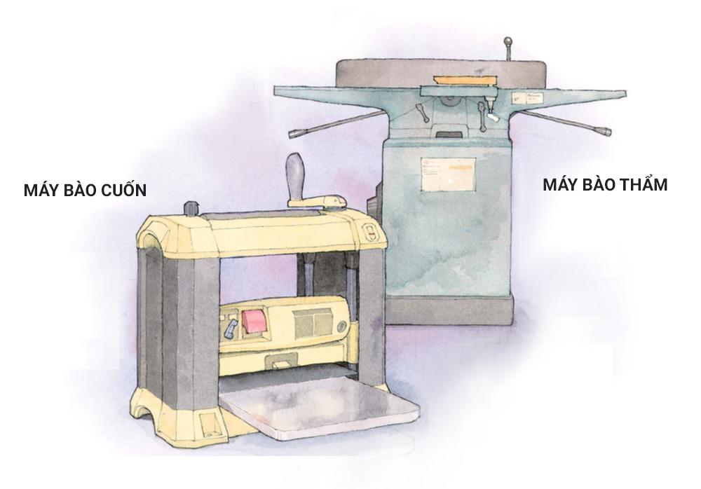 Bạn có cần cả máy bào cuốn và máy bào thẩm?